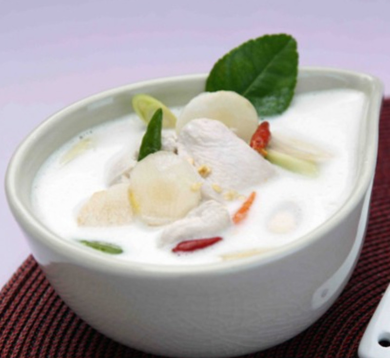 Tom Kha Gai (Chicken and Galangal in Coconut Milk Soup)