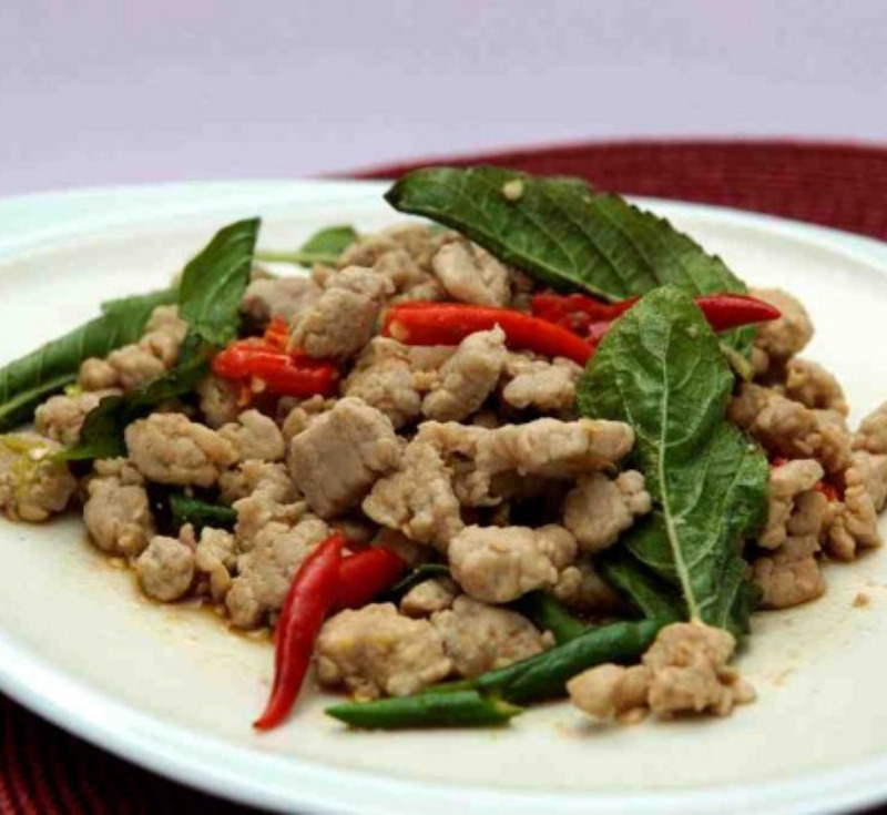 Pad Graphrao Moo (Stir-Fried Pork with Holy Basil)
